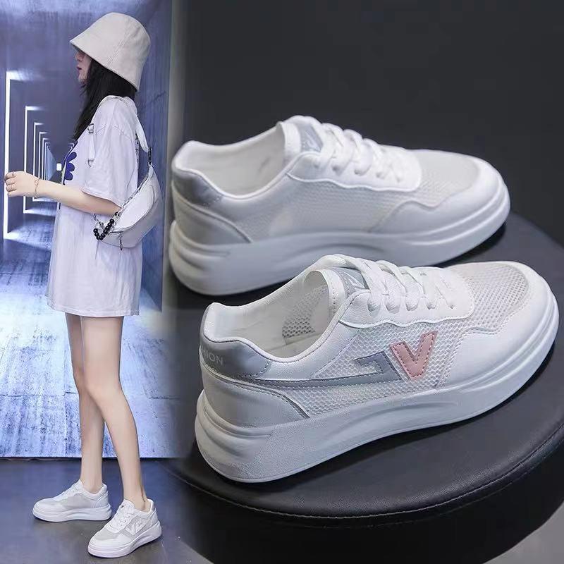 透气运动鞋女2019夏季新款韩版休闲鞋学生跑步板鞋