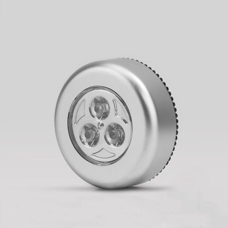 按钮led小夜灯+3节7号电池