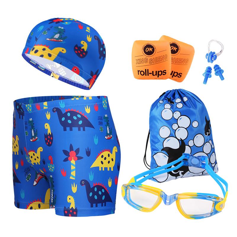 儿童泳衣男童小孩分体宝宝游泳衣泳裤套装备小中大童防晒泳衣女童