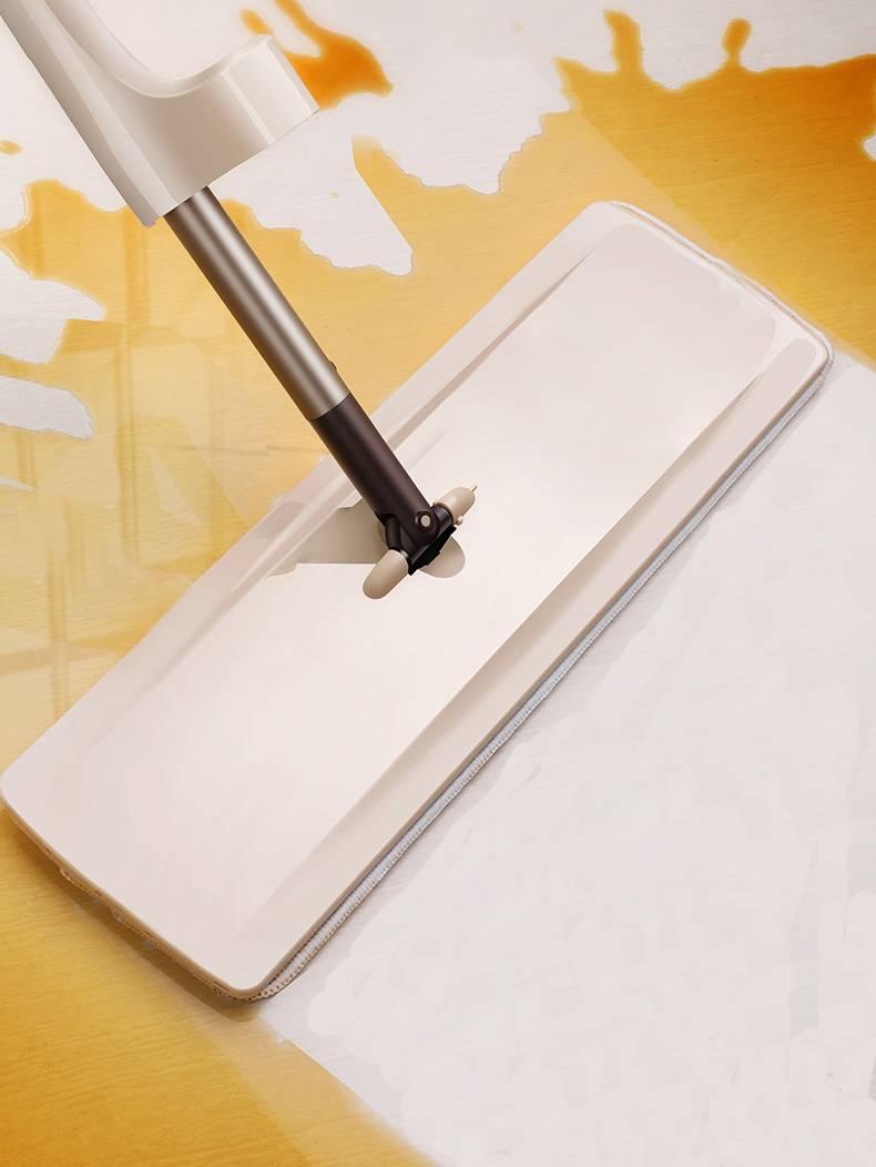 刮刮乐免手洗平板家用拖把木地板旋转吸水喷水拖地墩布干湿两用净