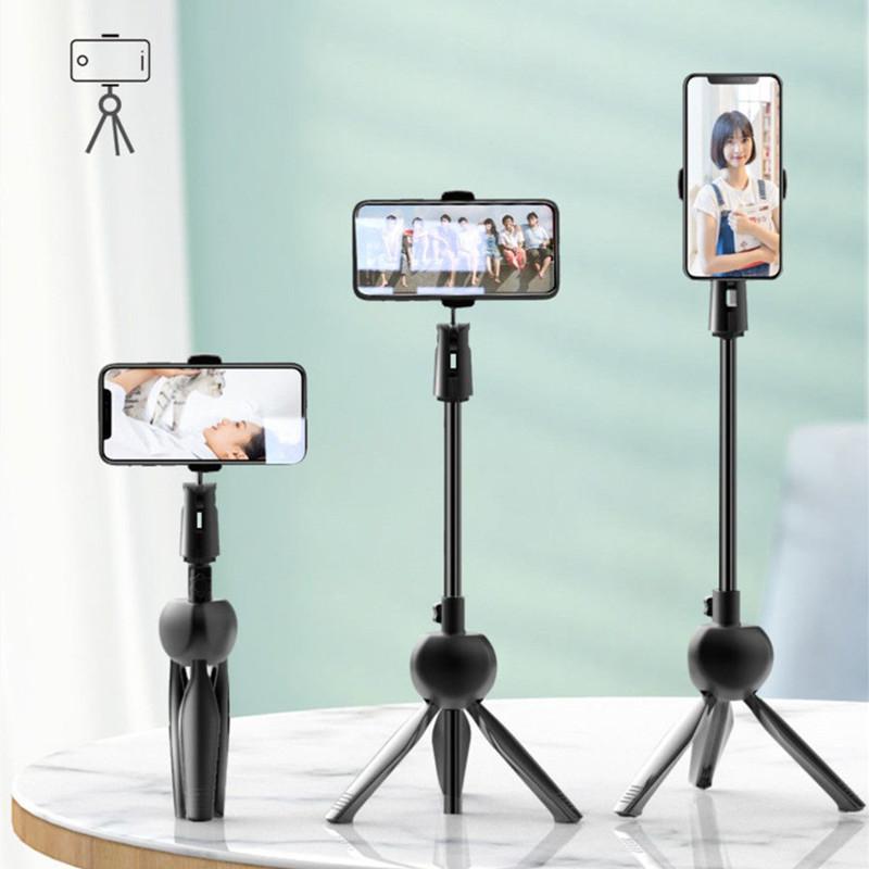 手机三脚架手持伸缩自拍杆直播追剧上网课懒人支架拍照支架可折叠