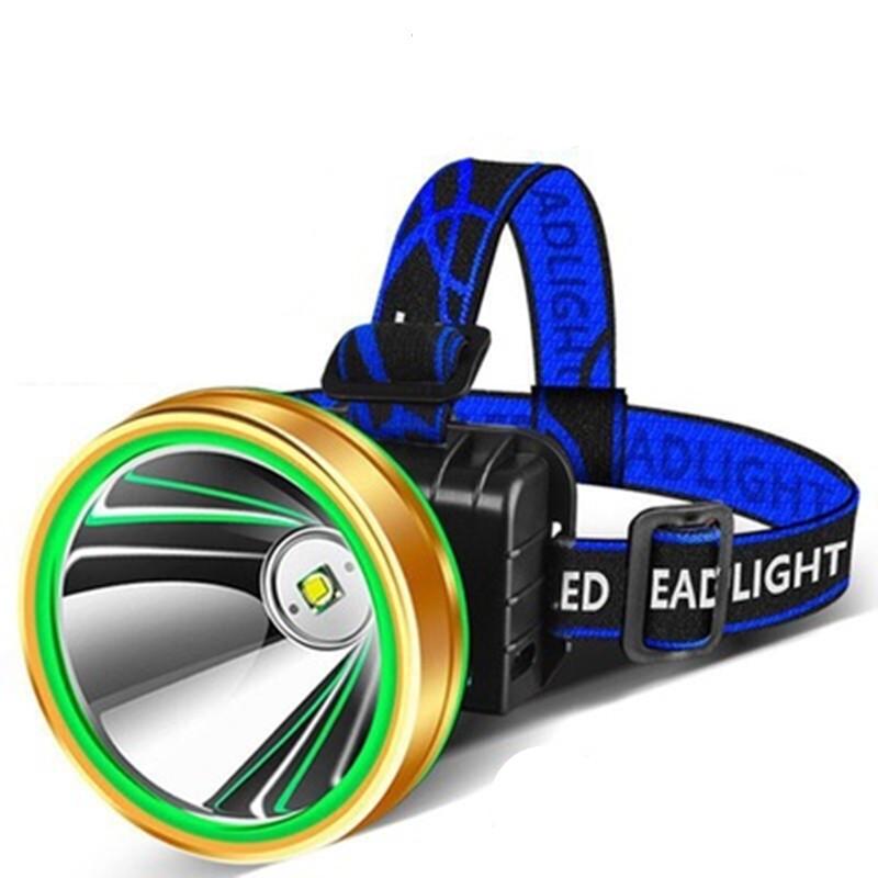 LED头灯强光超亮头戴式手电筒户外家用远射充电小氙气矿灯