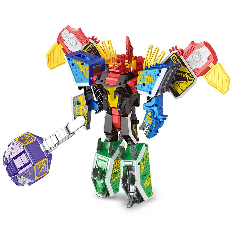 AL洛高611新款变形神兽合体玩具金刚儿童益智恐龙男孩机器人模型