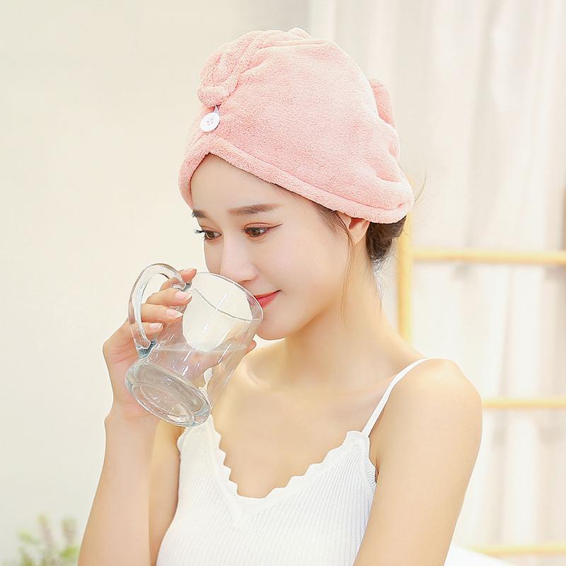 干发帽新款速干女可爱超强吸水干发帽女长发韩式吸水加厚浴帽成人