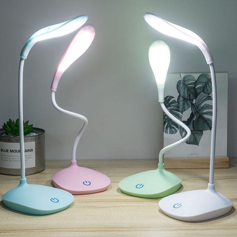 小台灯护眼大学生学习usb充电插电夹子儿童卧室床头led阅读灯0