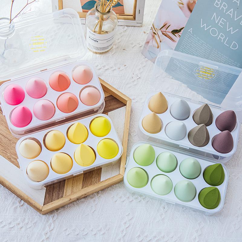 8个装美妆蛋不吃粉巨超软粉扑彩妆粉底海绵化妆蛋切面球干湿两用