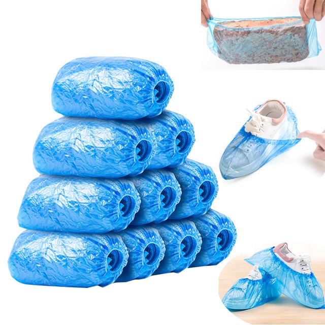 【500 200 100 20只】男女鞋底套鞋套一次性防雨防尘鞋套防水加厚
