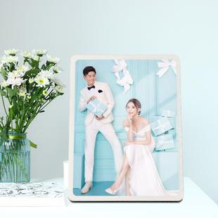 大韩创意水晶相框摆台洗照片做成婚纱照相片挂墙摆件全家福定制