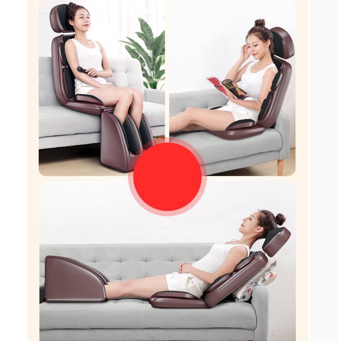 舒服颈椎按摩器仪颈部腰部背部肩部多功能全身靠垫按摩椅垫家用