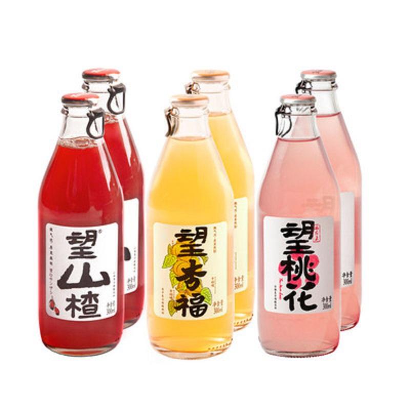 望山楂汁望桃花山楂气泡水白桃果汁解腻健康饮料整箱0脂肪300ml*6