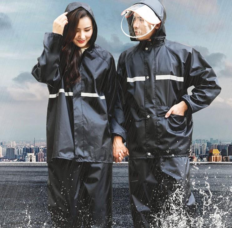 雨衣电动车摩托车男女成人加厚防水雨衣雨裤套装分体骑车防暴雨