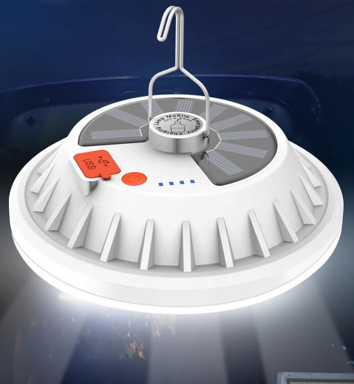 太阳能充电灯泡夜市摆摊超亮 led节能停电应急照明灯家用当充电宝