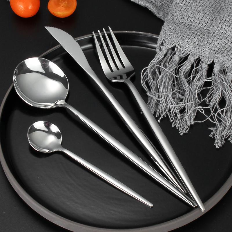 沃米不锈钢刀叉套装家用西餐餐具两件套ins网红牛排刀叉勺三件套