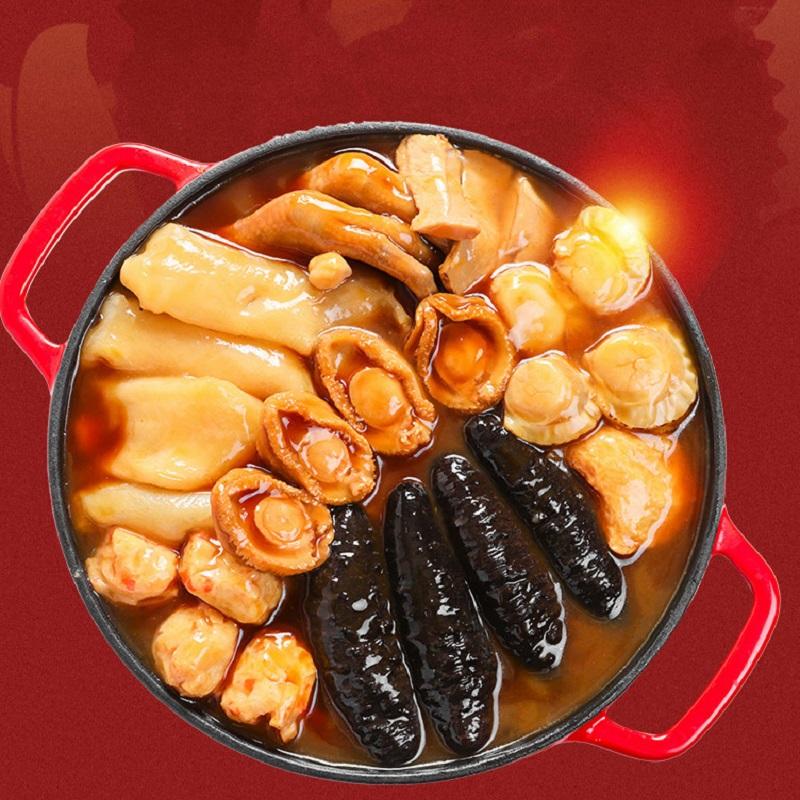 呼咖HUGA 佛跳墙 加热即食大盆菜熟海鲜年货礼包盒4人份