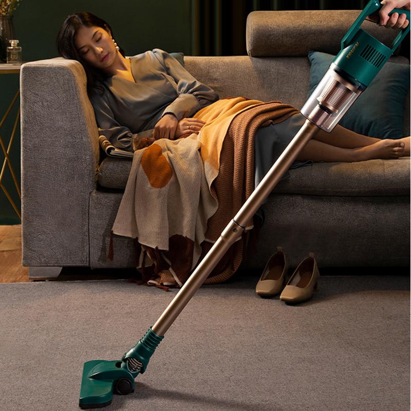 尤夫吸尘器家用小型无线大吸力强功率超静音手持式床上除螨猫狗毛