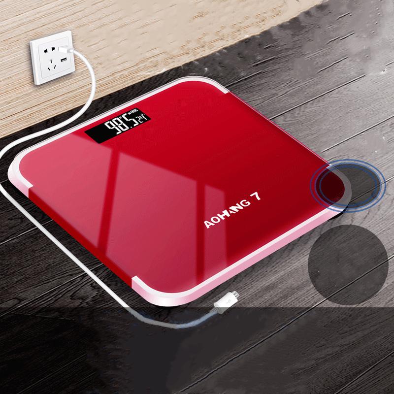 正品家用电子称精准体重秤电池成人减肥可爱学生小型人体称重器计