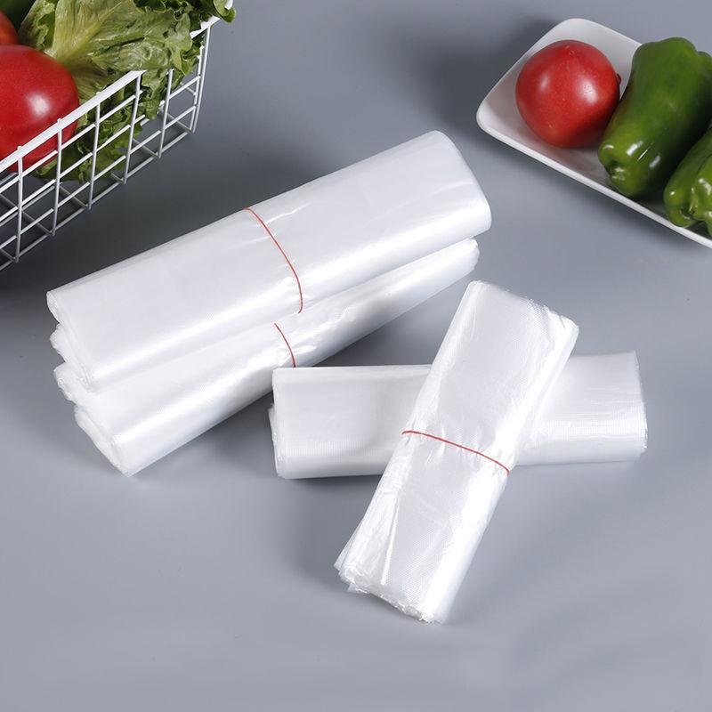 塑料袋加厚商用方便袋子一次性食品袋包邮食品级PE白色背心袋