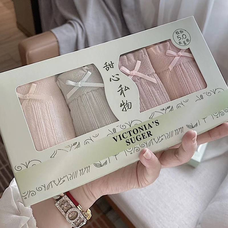 双彩盒装板蓝根5.0石墨烯无缝内裤女纯棉内档植物润肤抗菌三角裤