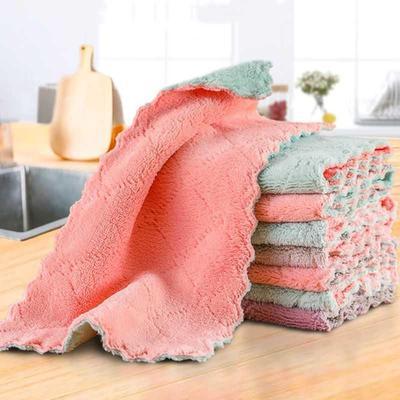抹布不沾油去污加厚洗碗巾厨房清洁布吸水布家用清洁毛巾不掉毛