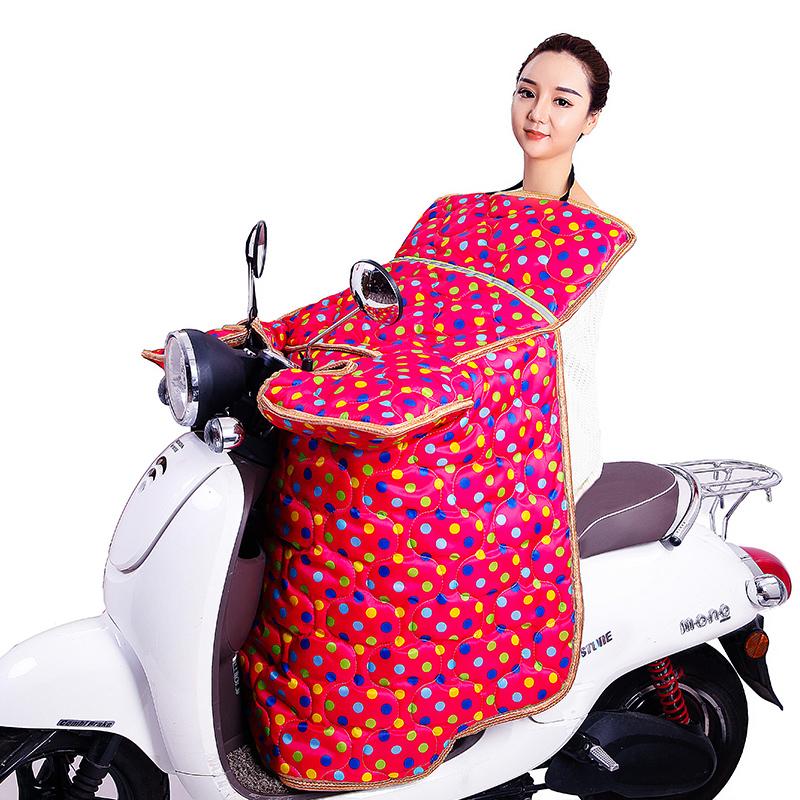 电动摩托车挡风被冬季加绒加厚加大电瓶车冬天防寒防水双面防风罩
