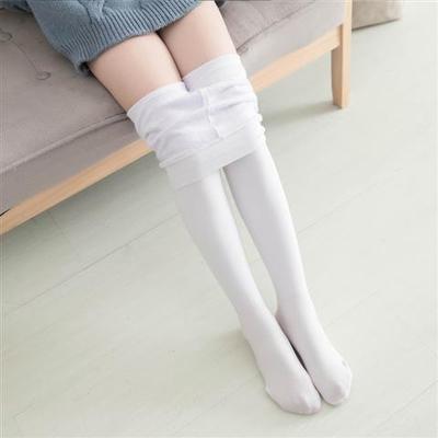 儿童连裤袜秋冬加绒加厚抗起球肉色中厚儿童连裤白色练功舞蹈袜子