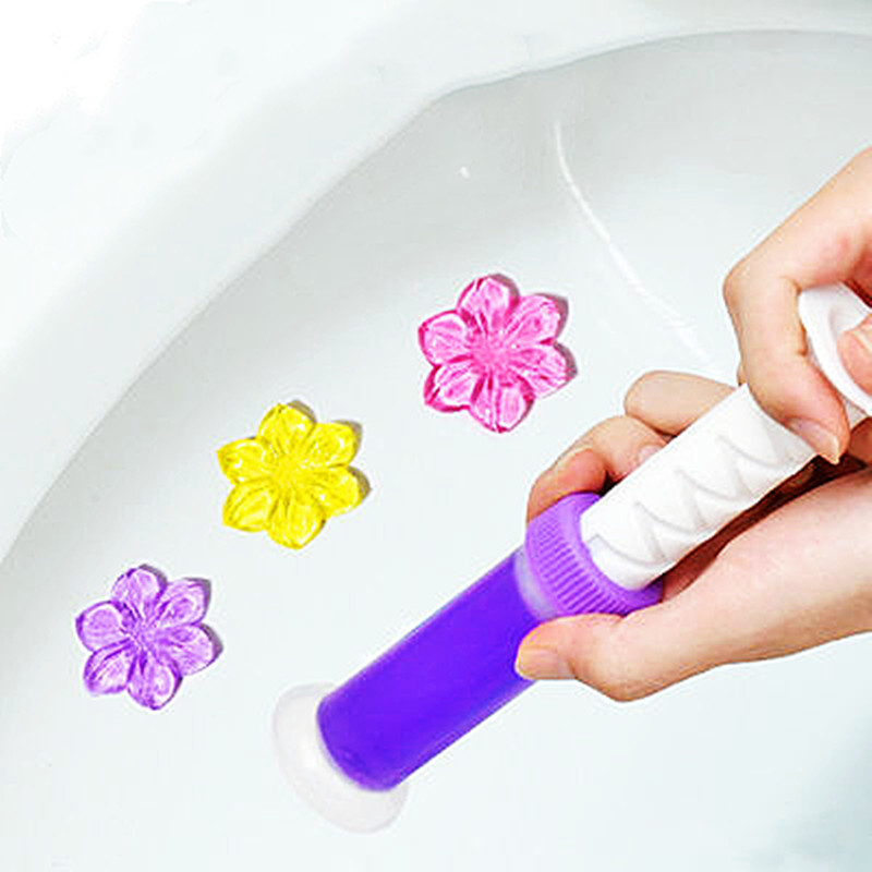 DA马桶小花清香厕所强效除臭洁厕宝香薰马桶清洁剂蓝泡泡洁厕剂