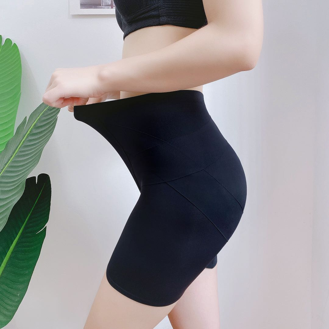 【卡卡同款】中腰提臀内裤女塑形裤塑身安全翘臀短裤收腹收胯美臀