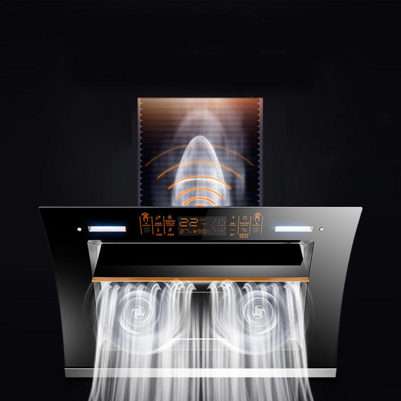 双电机自动清洗抽油烟机壁挂式吸油烟机家智能用侧吸油姻厨房特价