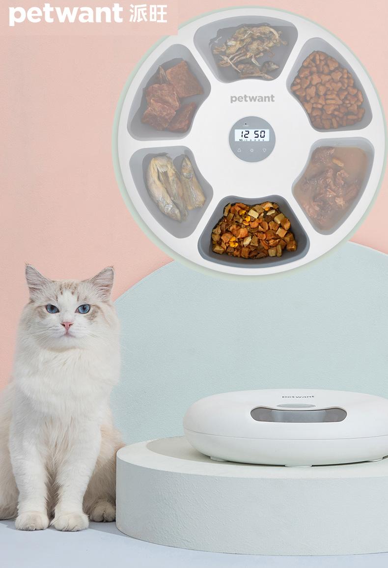 派旺petwant猫咪智能自动喂食器定时定量猫粮狗粮狗机自助投食机