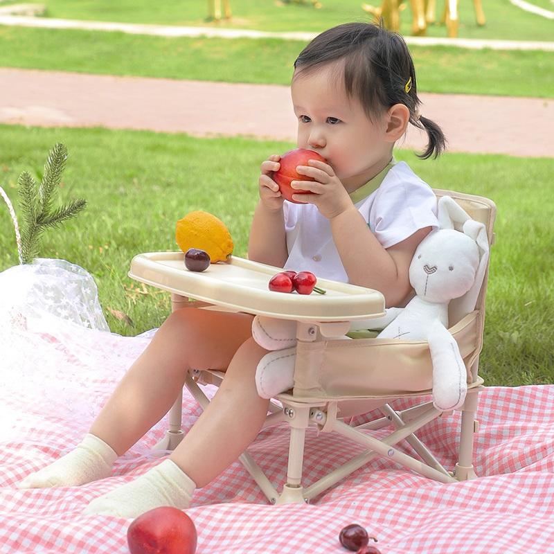 宝宝餐桌椅可折叠BB矮凳儿童户外拍照ins轻巧便携婴儿学坐小椅子