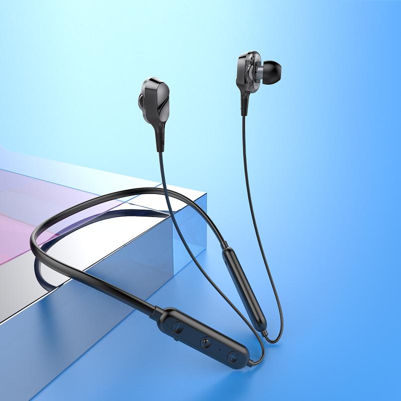 希华尔运动无线蓝牙耳机双耳5.0入耳挂脖式跑步磁吸安卓苹果通用超小型适用于华为iphone小米超长续航