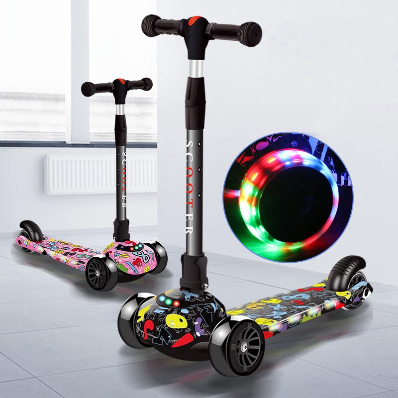 滑板车儿童1-3-6岁以上小孩踏板宝宝单脚划板三合一滑滑溜溜车