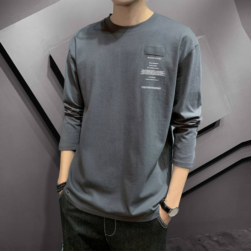 春秋季男士长袖t恤男青少年韩版圆领打底衫男装上衣服秋衣男T恤衫