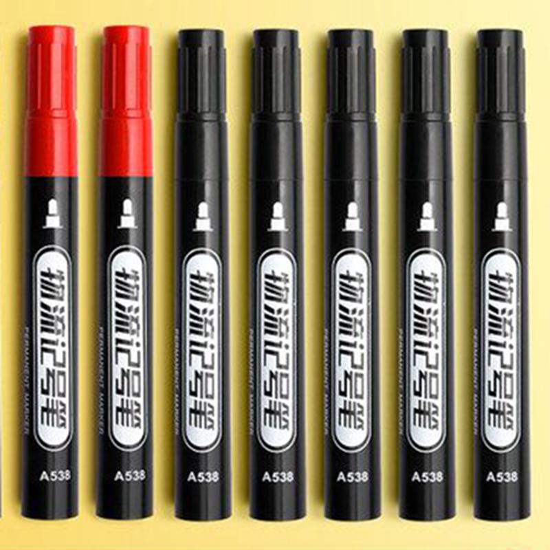100支记号笔油性不可擦黑色大头笔物流快递笔专用加长防水马克笔