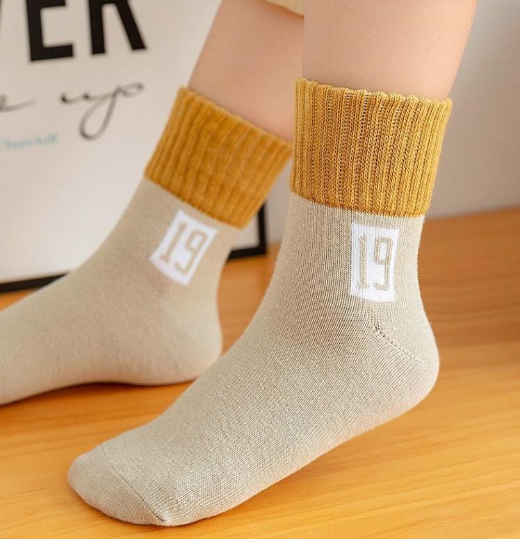 春秋冬儿童袜子厚款保暖舒适男女学生中筒袜