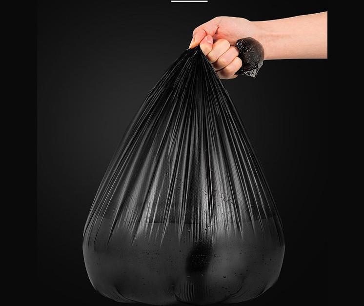 垃圾袋家用平口手提断点式加厚黑色宿舍用学生大号彩色拉圾塑料袋