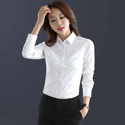 加绒衬衫女长袖秋冬新款显瘦衬衫职业装韩版修身百搭保暖打底衬衫