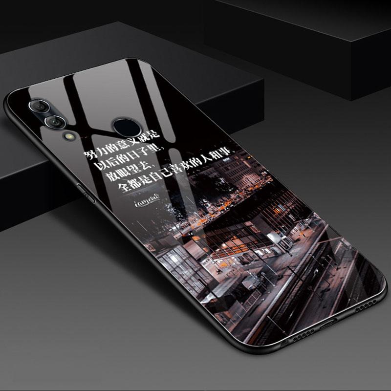 华为畅享9plus手机壳全包防摔磨砂软边JKMAL00个性创意新款玻璃套