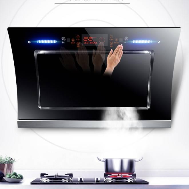 2021全新升级智能双电机自动清洗抽油烟机侧吸式厨房吸油烟机静音