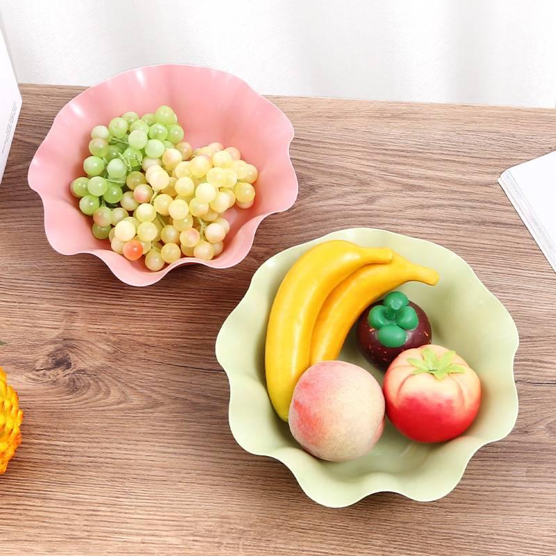 北欧风格水果盘创意客厅茶几家用网红简约现代铁艺篮零食盘干果盆
