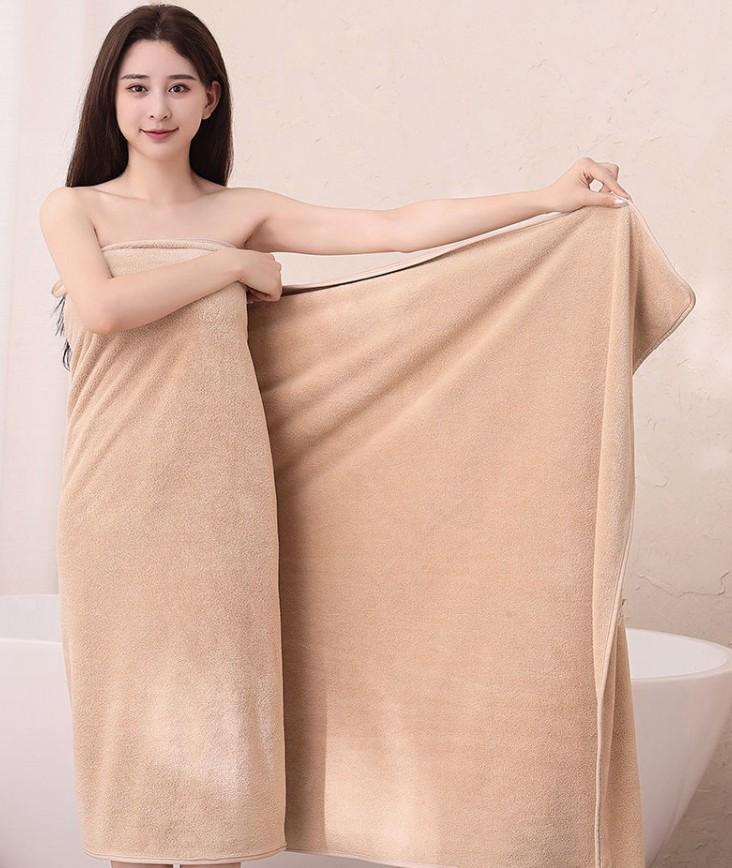 加大加厚高密珊瑚绒浴巾男女儿童四季可用不掉毛不掉色比纯棉吸水