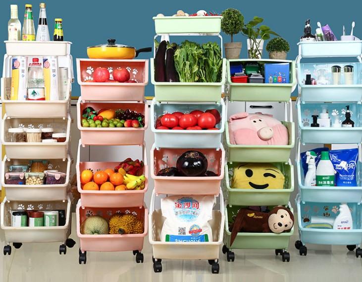 厨房多层落地收纳架卫生间置物架多功能蔬菜水果置物架厨房