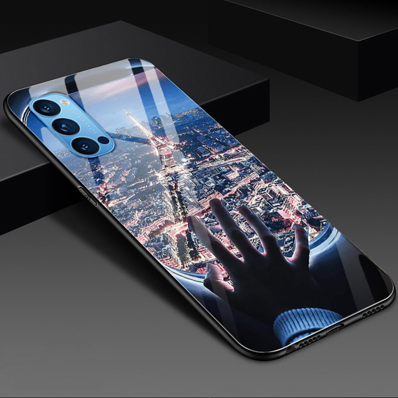 OPPOReno4pro手机壳5G防摔全包软边框REN04PR0时尚个性新款保护套