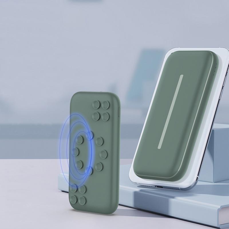 惠世通多功能无线充充电宝10000毫安吸盘18W快充移动电源超薄便携