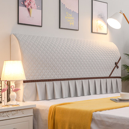 床头套全包万能床头罩布艺欧式现代简约防尘床头保护罩靠背软包罩