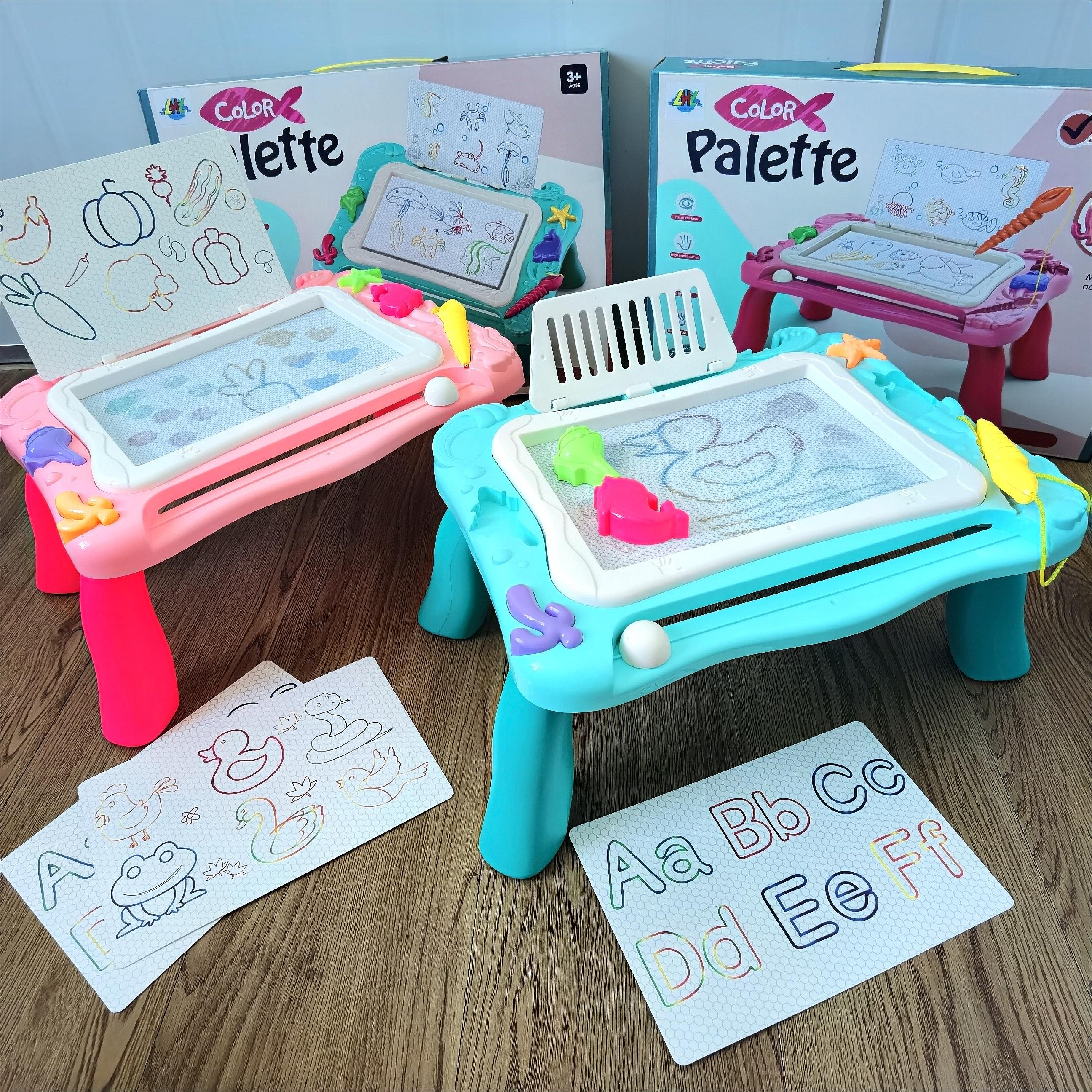 小孩儿童画画板可擦磁性写字板宝宝幼儿园家用彩色涂鸦板拼图玩具