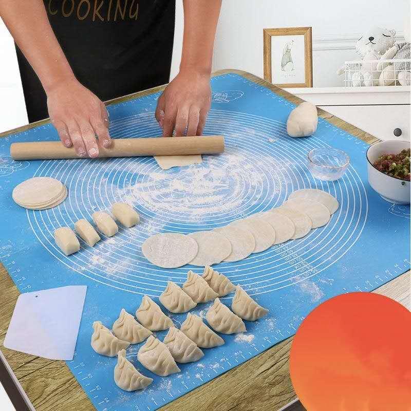 大号防滑食品级硅胶垫揉面垫不沾饺子案板擀面垫子和面板烘焙工具