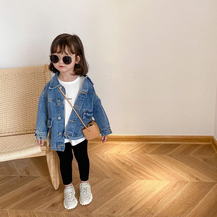 女童牛仔外套秋装2020新款儿童宝宝上衣洋气韩版中小童春秋季童装