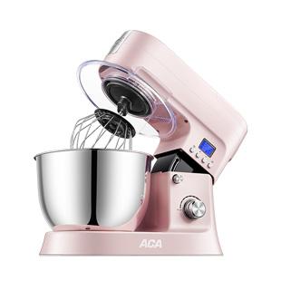 ACA厨师机家用小型活和面机多功能全自动揉面搅拌打蛋商用鲜奶机