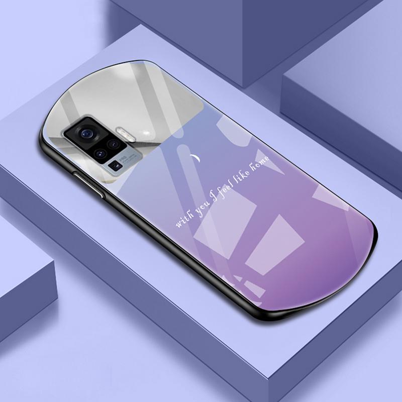 vivox50手机壳vivox50pro保护套补妆镜子vivox50弧形玻璃壳5g版硅胶vovi x50潮男女款vivo